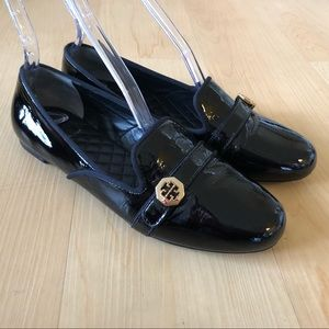 Tory Burch Brita patent loafers smoking slippers